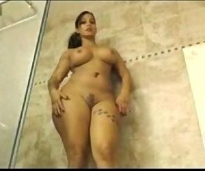 Busty wife showing hot moves..